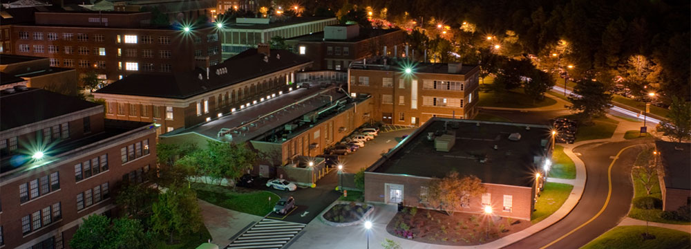 Taylor Hall at night